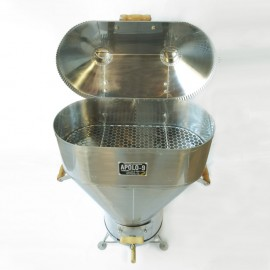 Churrasqueira a bafo Apolo 9 inox , incluso kit gás e rodinhas