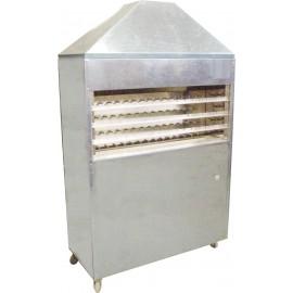 Churrasqueira (carvão) inox rotativa para assar 60 espetinhos