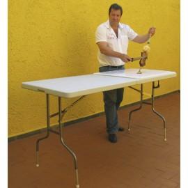 Mesa Pranchão Plástica dobrável + tábua de corte para carnes