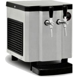 Chopeira Small Inox II elétrica - 110V  (expansão direta) 2 torneiras com kit gás/completa - 50 litros de chopp hora