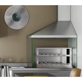 Churrasqueira COOKTOP a carvão com 11 espetos rotativos em 2 galerias (inox 430)