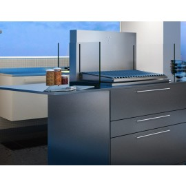 Grelha levadiça elétrica automática COOKTOP a carvão com 78,5 cm (inox 430)