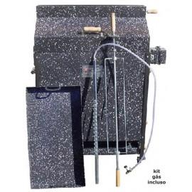 Churrasqueira a bafo Apolo Porco (220 v), incluso kit gás e rodinhas