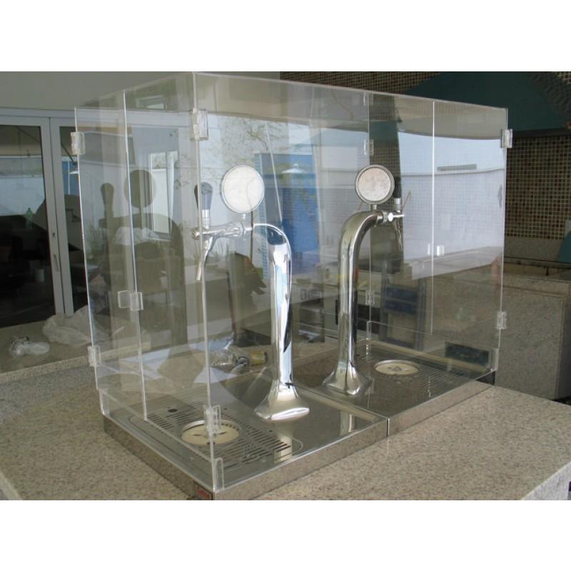 Cúpula em acrílico para proteção da chopeira torre naja