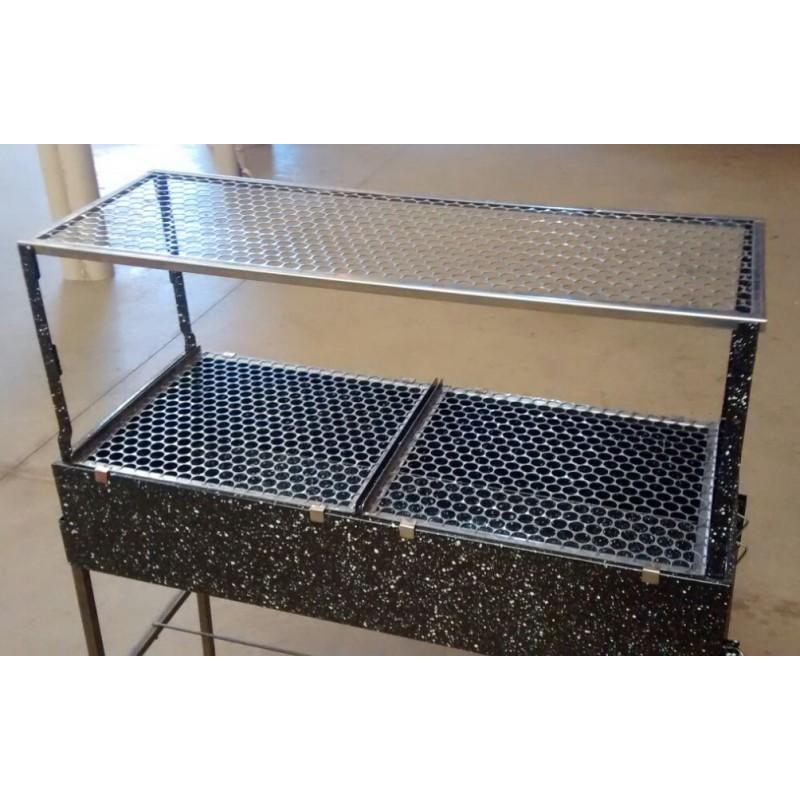Churrasqueira profissional para espetinhos com 2 andares - Catira
